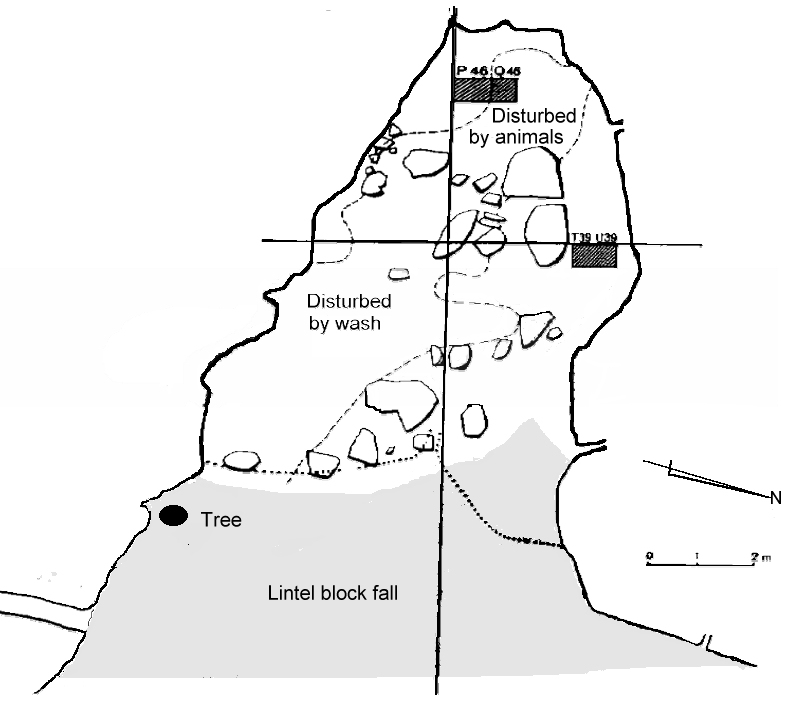Plan Of Colless Creek Cave Showing The Location Square P46