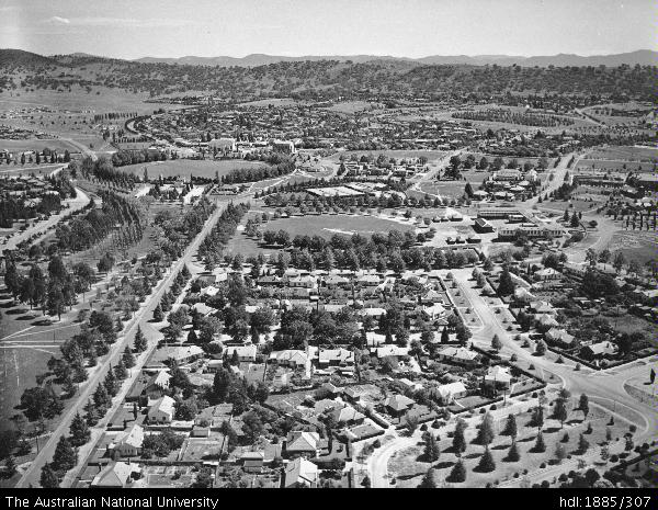 open research aerial view of part of canberra s southern suburbs