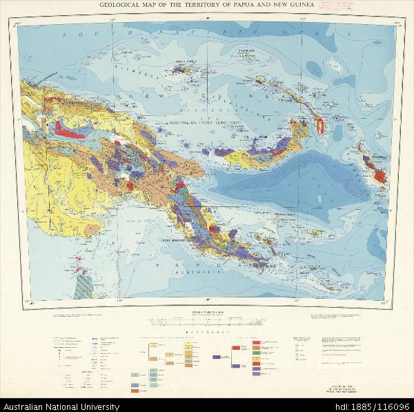 Open Research Papua New Guinea Geological Map Of The Territory - Papua new guinea map